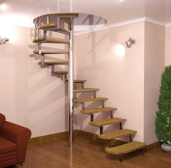 проект винтовой лестницы в частном доме