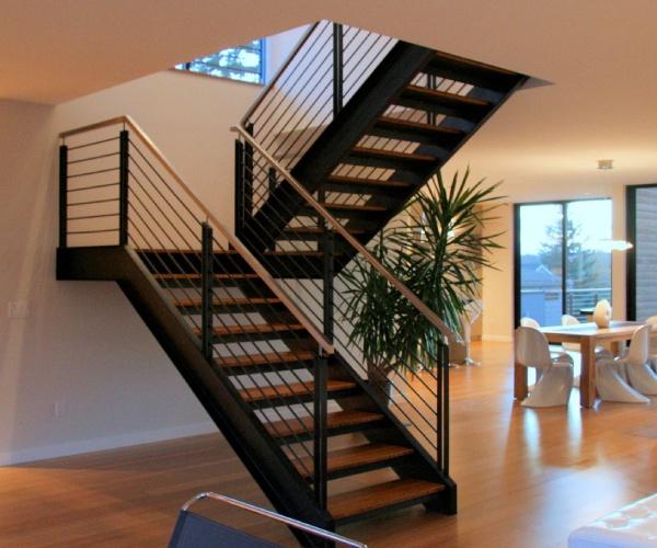 лестница с поворотом 180°