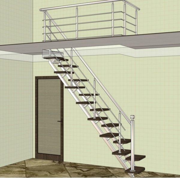 проект лестницы гусиные лапки
