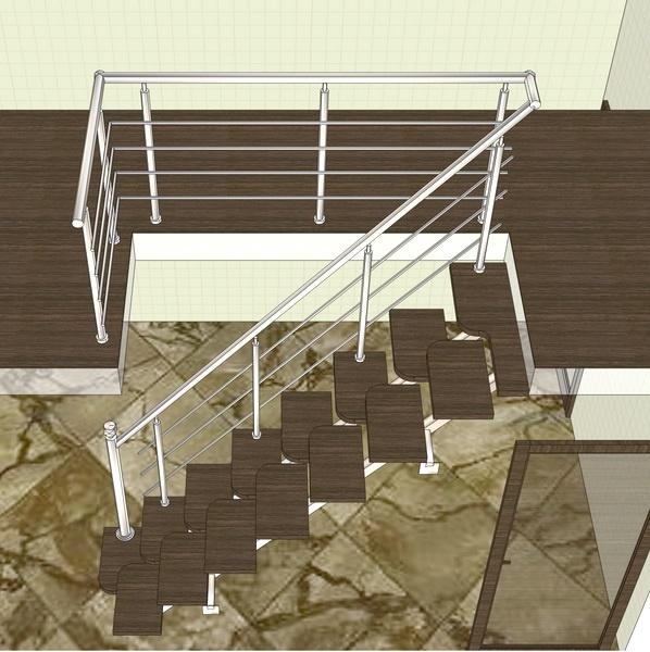 проект лестницы гусинве лапки