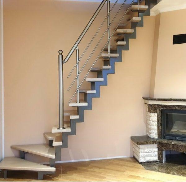 лестница гусиные лапки в современном стиле