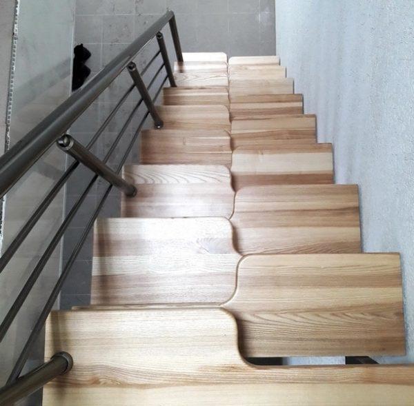 форма ступеней лестницы гусиные лапки