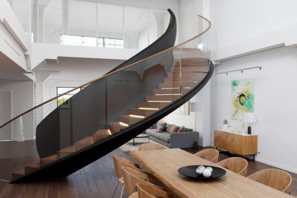 оригінальні перила для гвинтових сходів